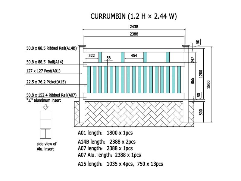 Currumbin Specifications